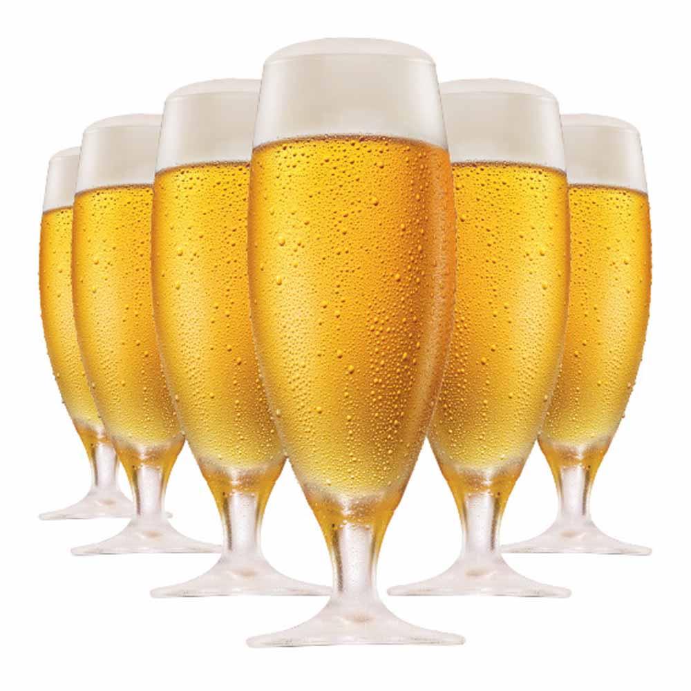 Jogo de Taças Cerveja Pils Cristal 380ml 6 Pcs