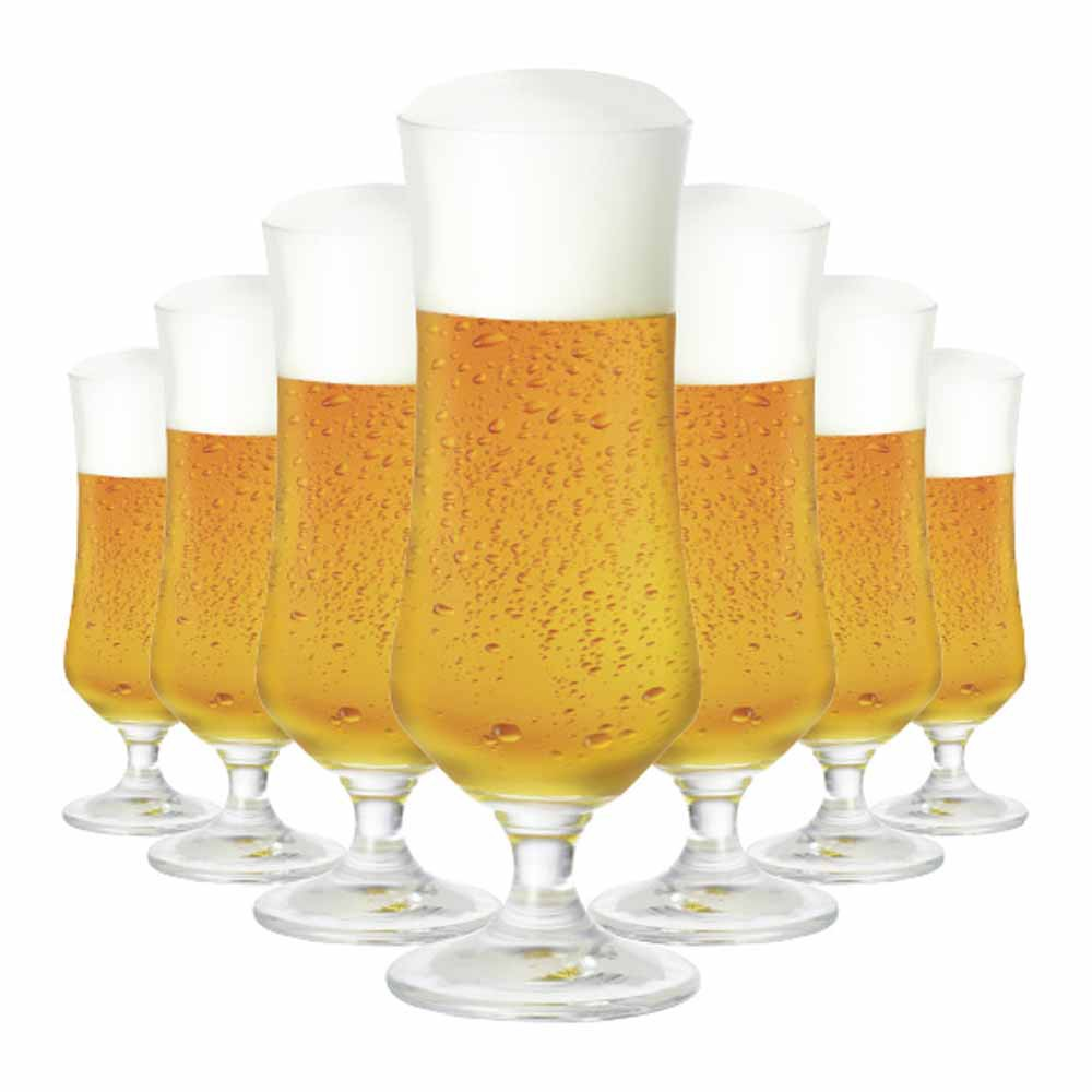 Jogo de Taças Cerveja Ratsk Cristal 385ml 6 Pcs