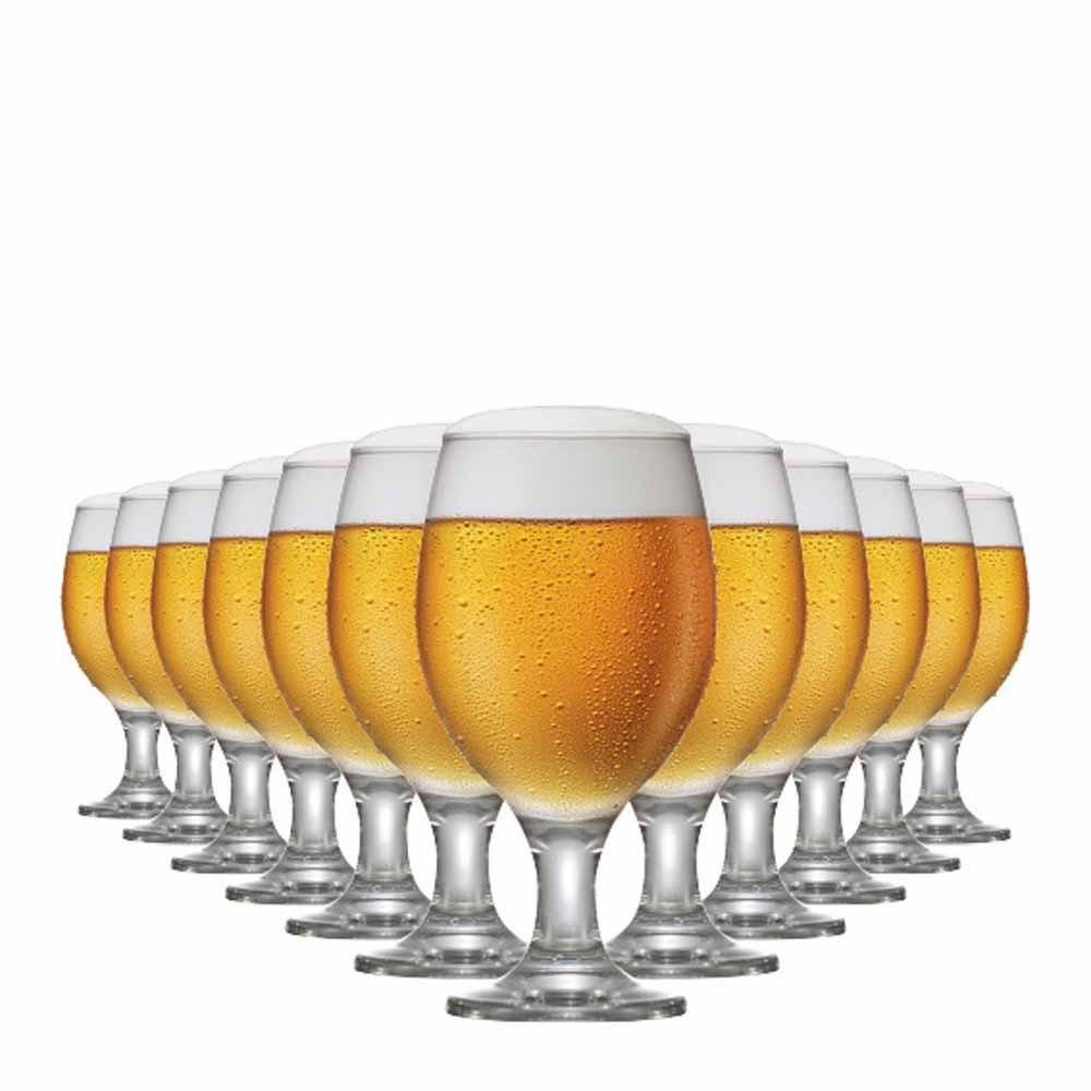Jogo de Taças Cerveja Roma Vidro 400ml 12 Pcs