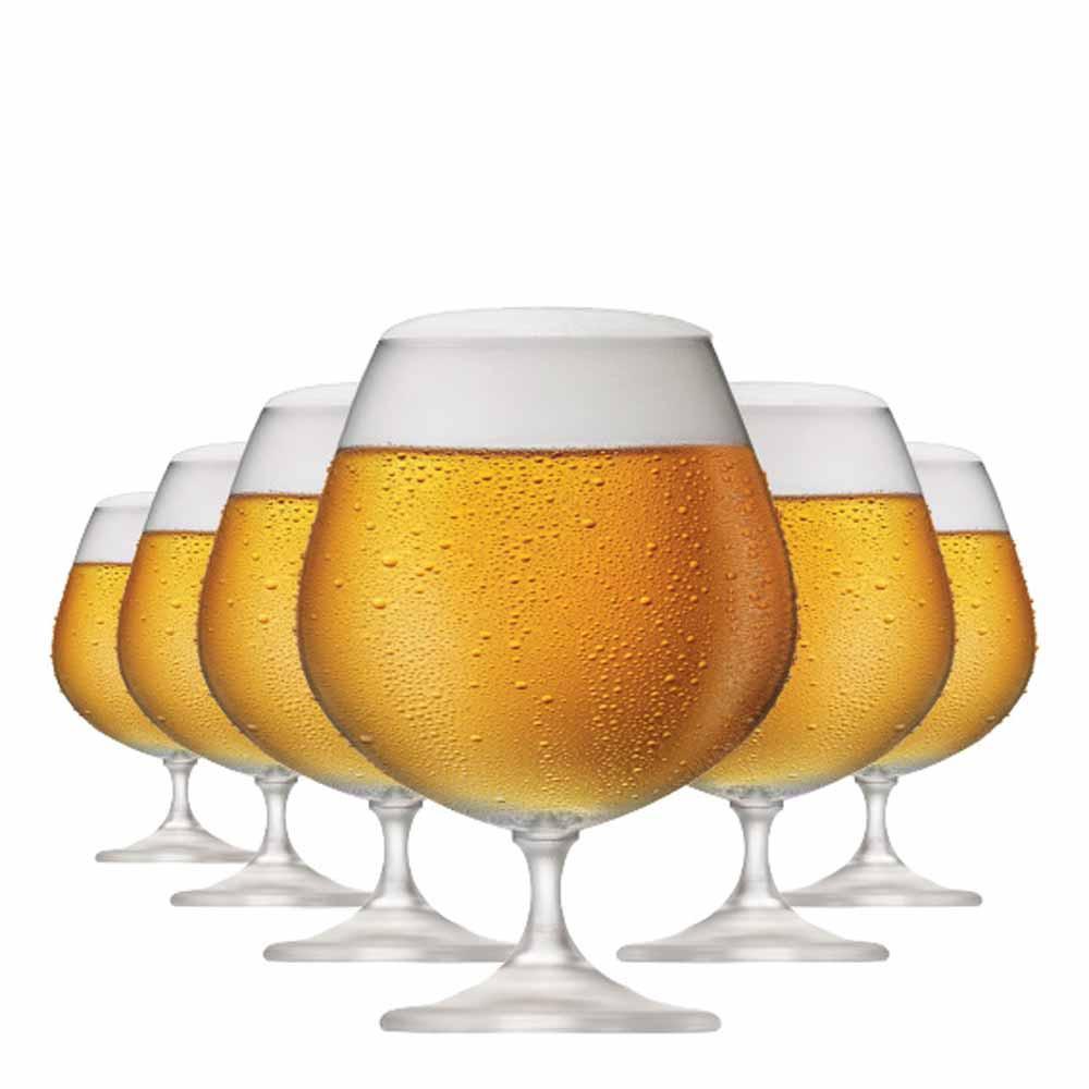 Jogo de Taças Cerveja Snifter Cristal 760ml 6 Pcs