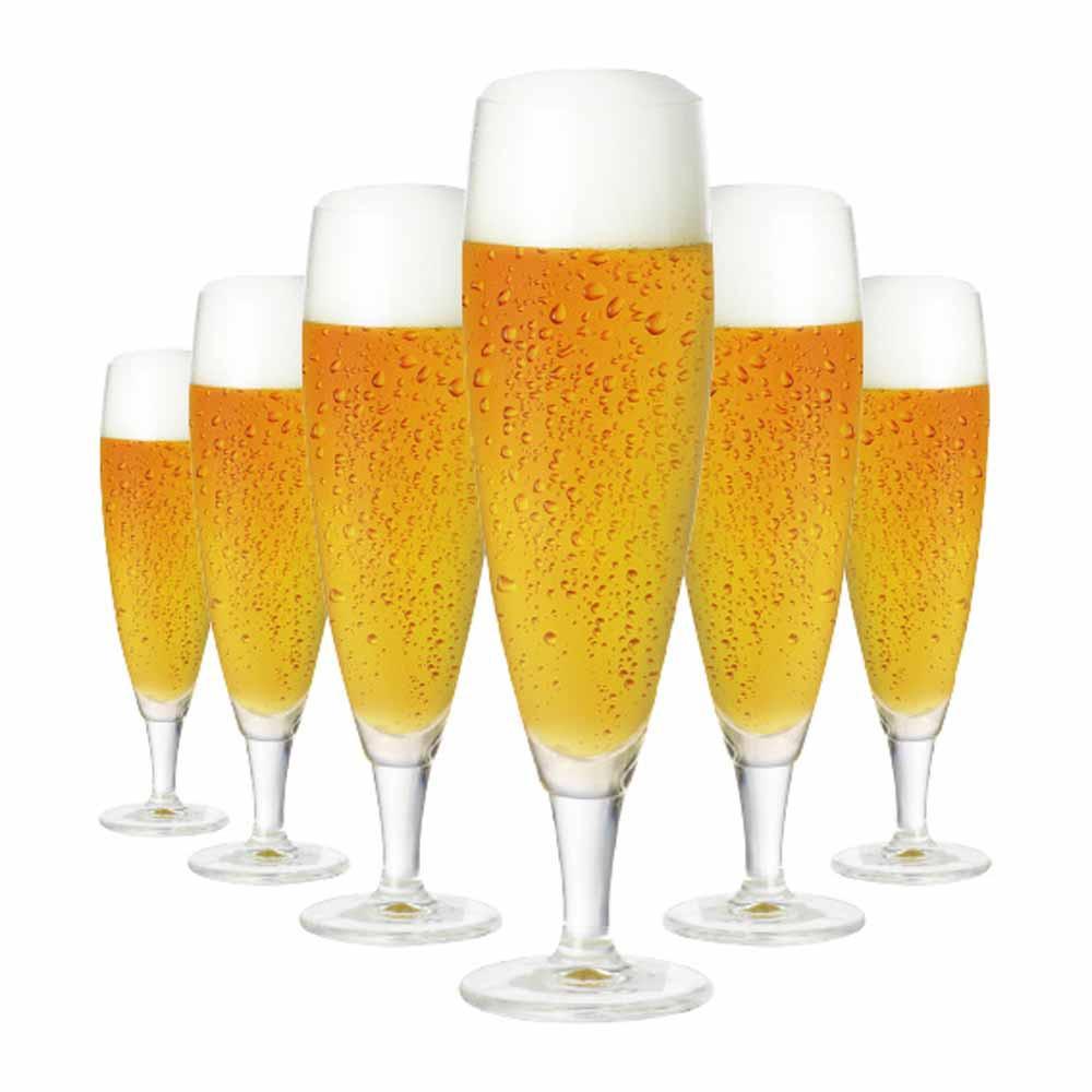 Jogo de Taças Cerveja Sokata G Cristal 390ml 6 Pcs