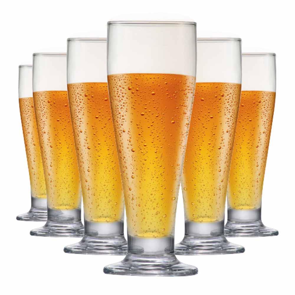 Jogo de Taças Cerveja Tulipa Vidro 320ml 6 Pcs
