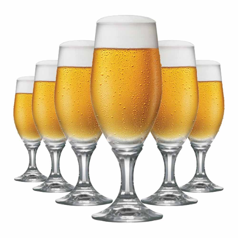 Jogo de Taças Cerveja Velt Cristal 315ml 6 Pcs
