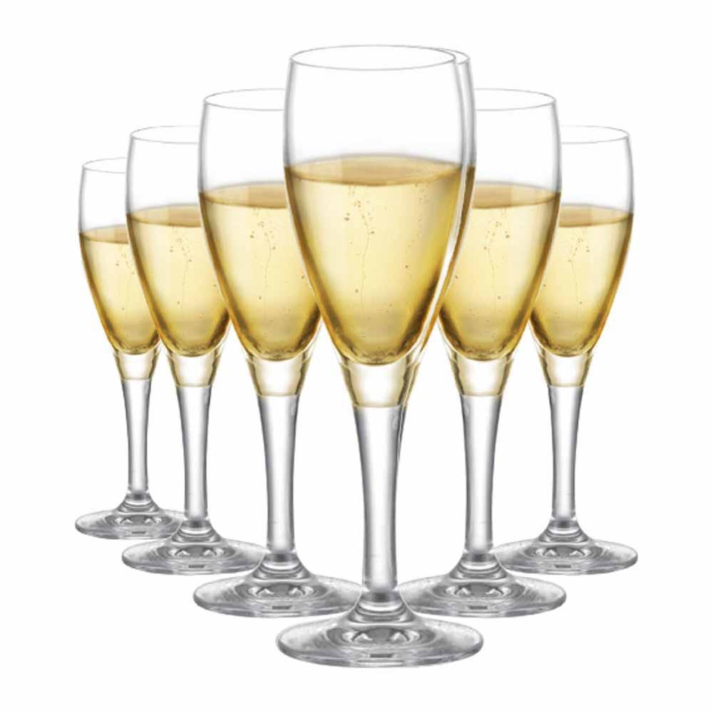 Jogo de Taças Champagne Arcadia Cristal 155ml 6 Pcs
