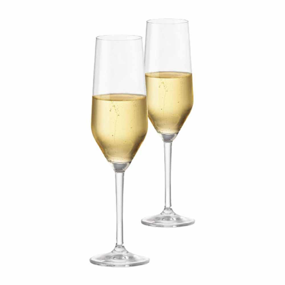 Jogo de Taças Champagne Elegance Cristal 260ml 2 Pcs