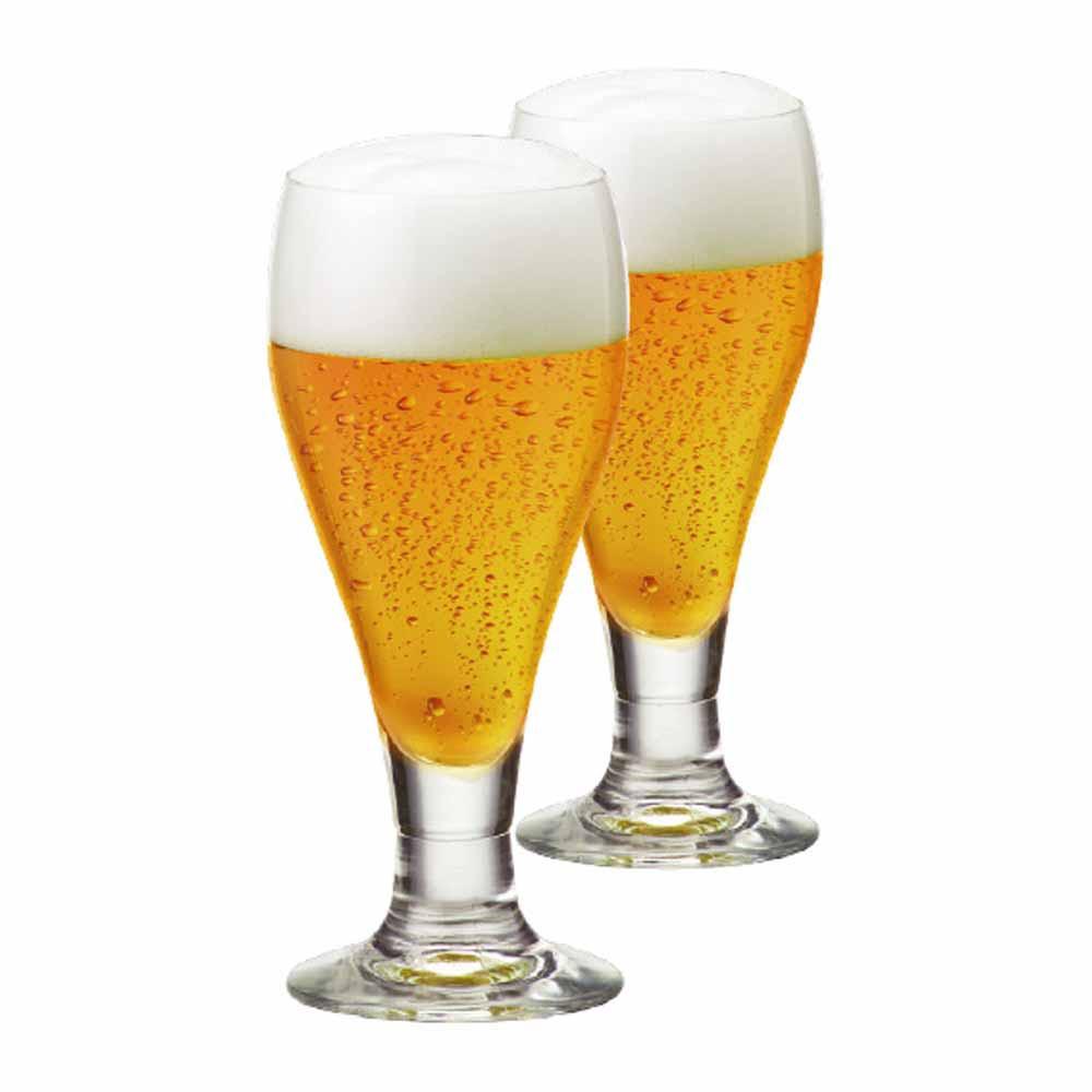 Jogo de Taças de Cerveja Amber Cristal 375ml 2 Pcs