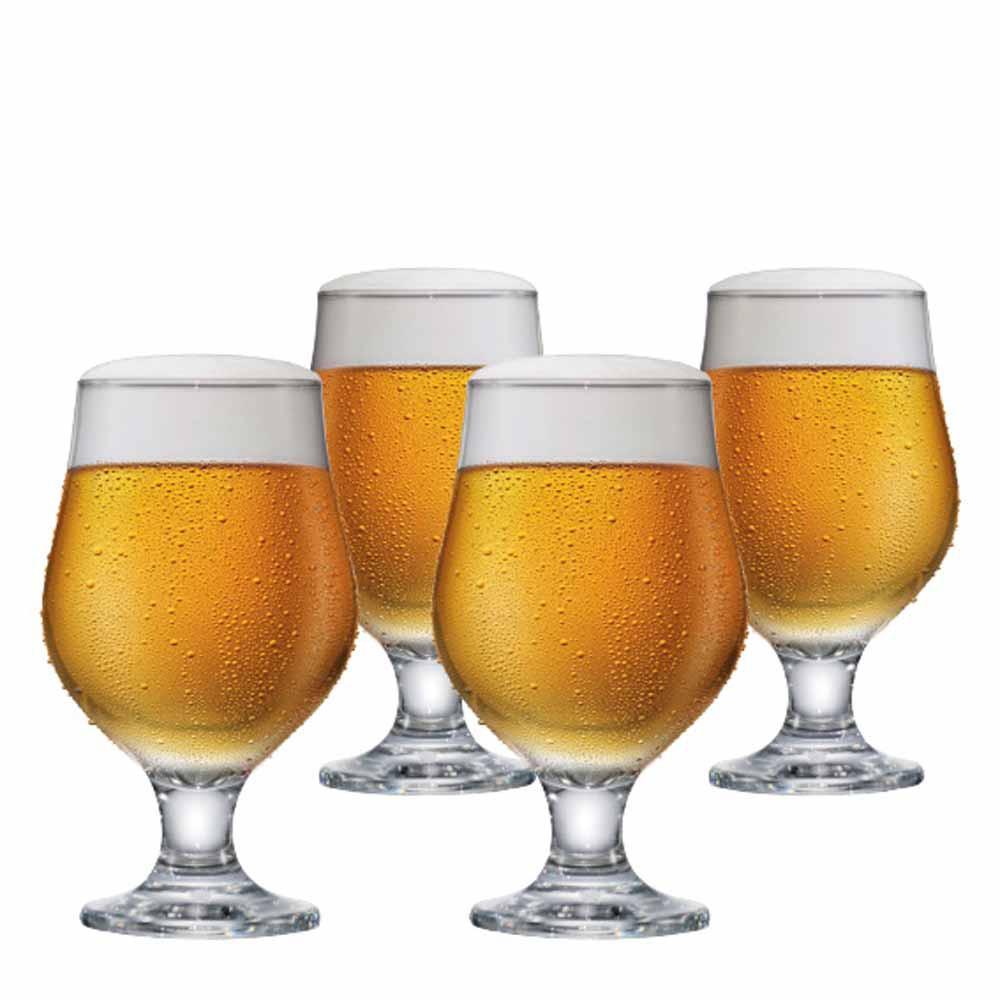 Jogo de Taças de Cerveja Beer Master Vidro 380ml 4 Pcs