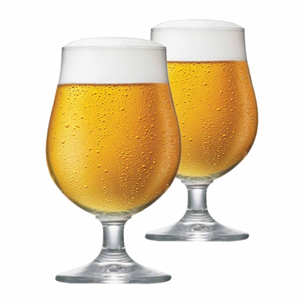 Jogo de Taças de Cerveja Bock Cristal 380ml 2 Pcs