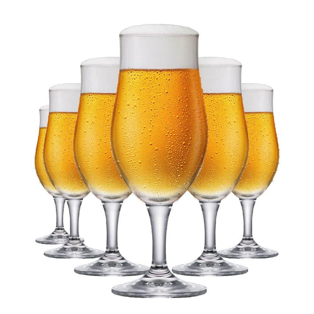 Jogo de Taças de Cerveja Cristal Blond M 370ml Conjunto 6 Pcs