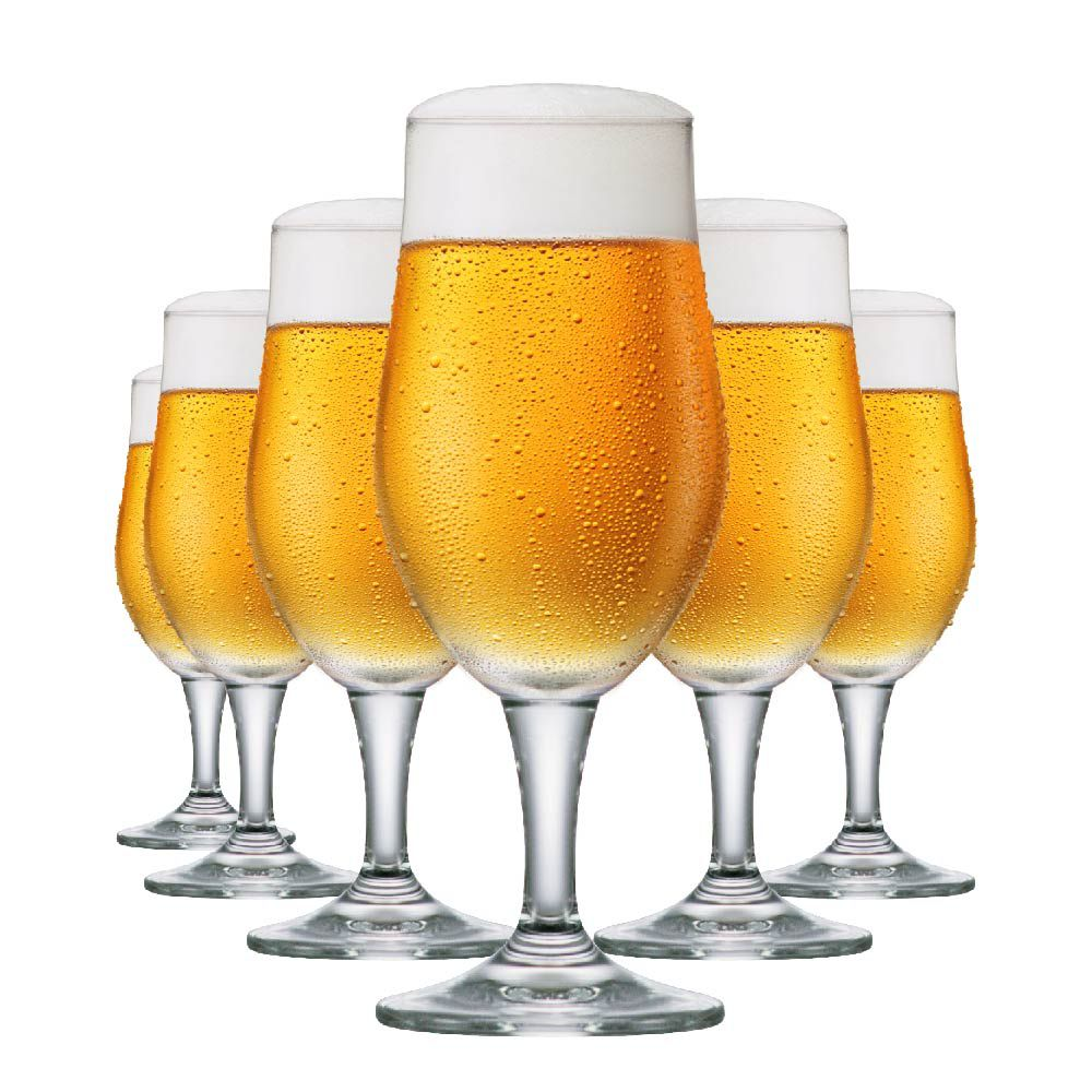 Jogo de Taças de Cerveja Cristal Blond P 265ml Conjunto 6 Pcs