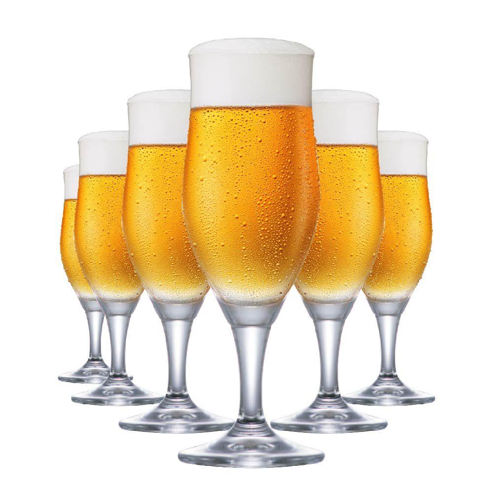 Jogo de Taças de Cerveja Cristal Sparkling P 265ml Conjunto 6 Pcs