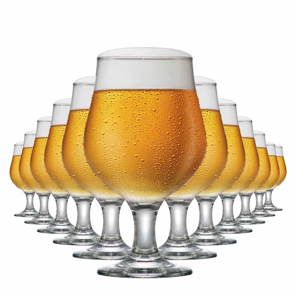 Jogo de Taças de Cerveja de Vidro Belgica 380ml 12 Pcs