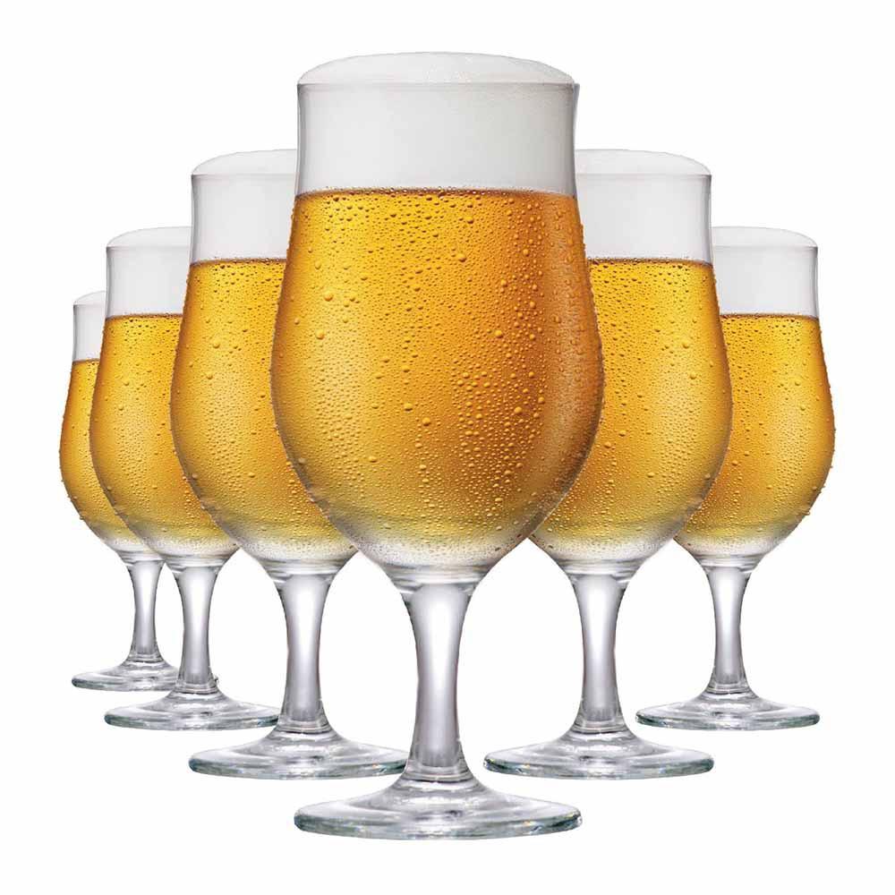 Jogo de Taças de Cerveja de Vidro Berlim 330ml 6 Pcs