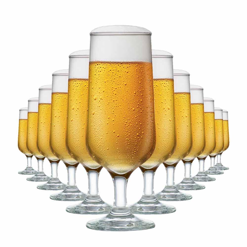 Jogo de Taças de Cerveja de Vidro Blumenau 300ml 12 Pcs