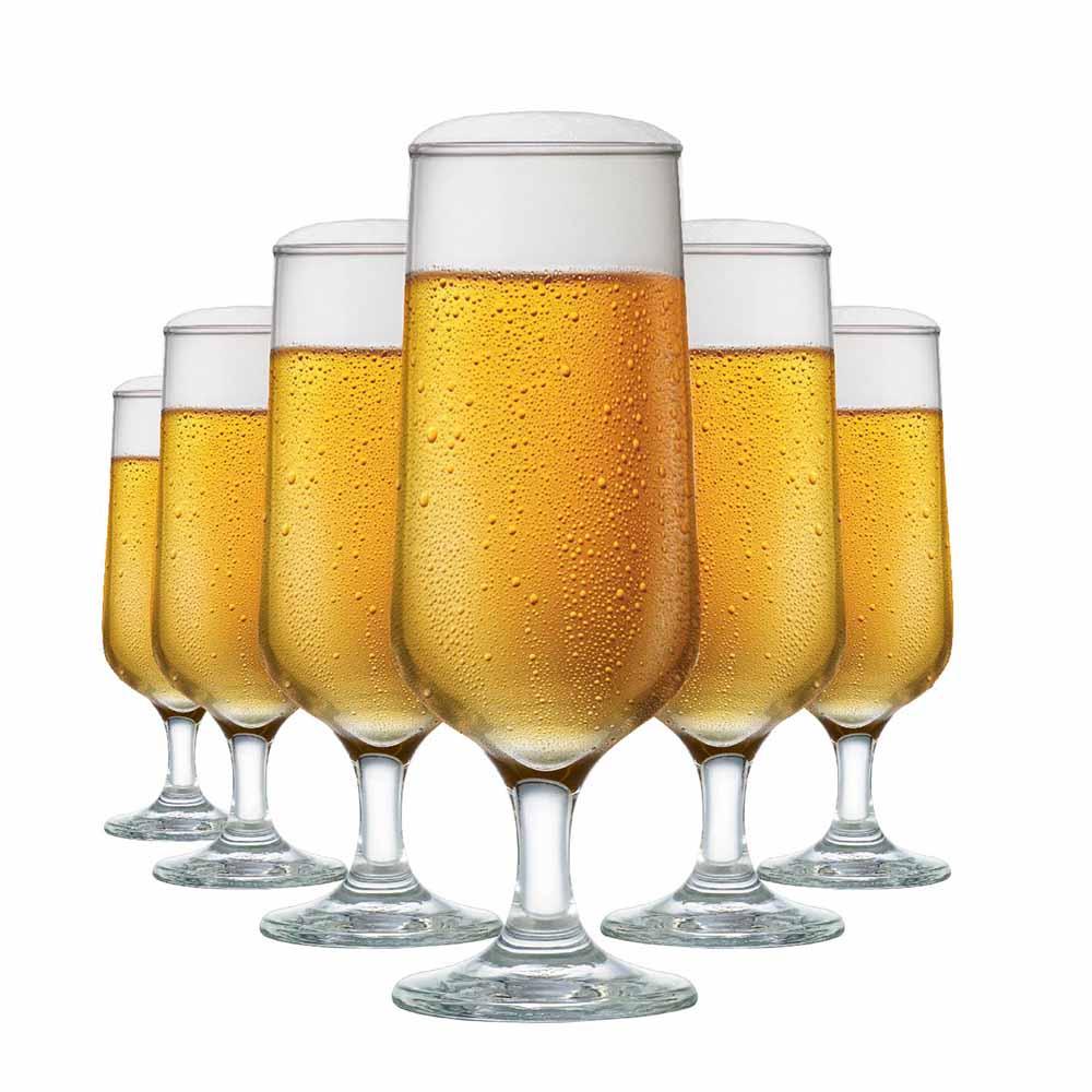 Jogo de Taças de Cerveja de Vidro Blumenau 300ml 6 Pcs