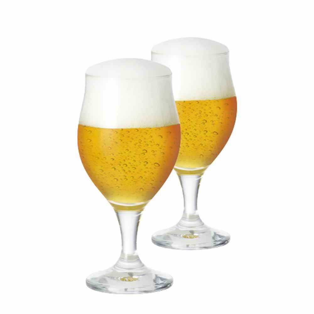 Jogo de Taças de Cerveja Elsab Cristal 340ml 2 Pcs