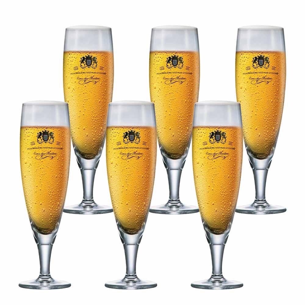 Jogo de Taças de Cerveja Frase Sokata Tulpe Cristal 390ml