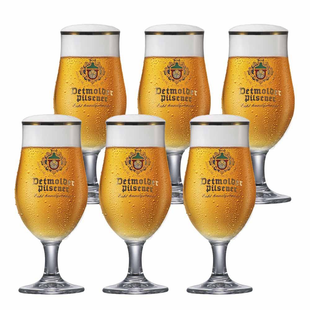 Jogo de Taças de Cerveja Frase Thur Pokal Cristal 340ml