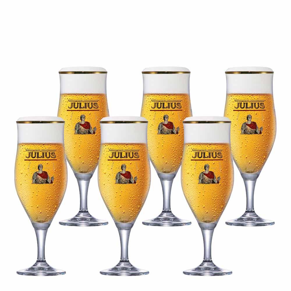 Jogo de Taças de Cerveja Frases Lubzer Pokal Cristal 540ml