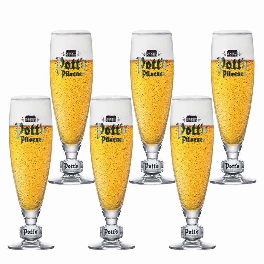 Jogo de Taças de Cerveja Frases Potts Pokal .2 Cristal 270ml