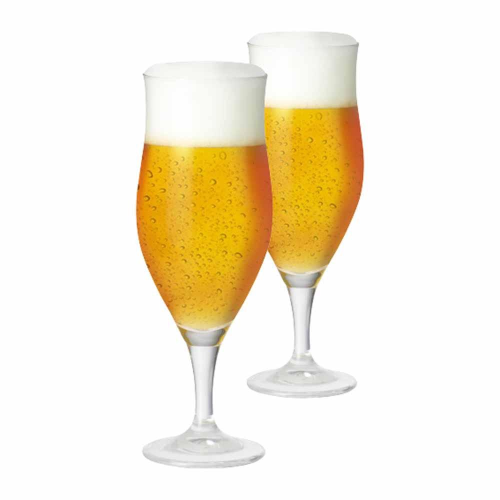 Jogo de Taças de Cerveja Lubzer M Cristal 340ml 2 Pcs
