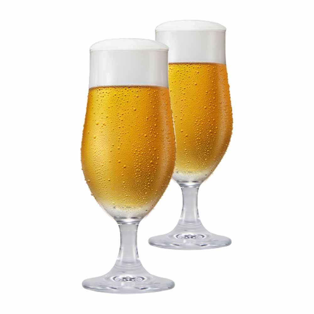 Jogo de Taças de Cerveja Nevada M Cristal 370ml 2 Pcs