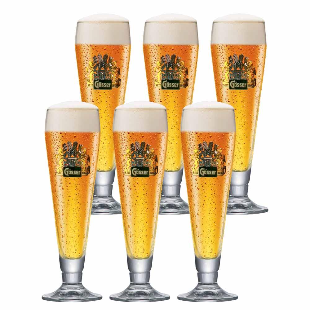 Jogo de Taças de Cerveja Rótulo Frases Ferrara Pokal Cristal 275ml
