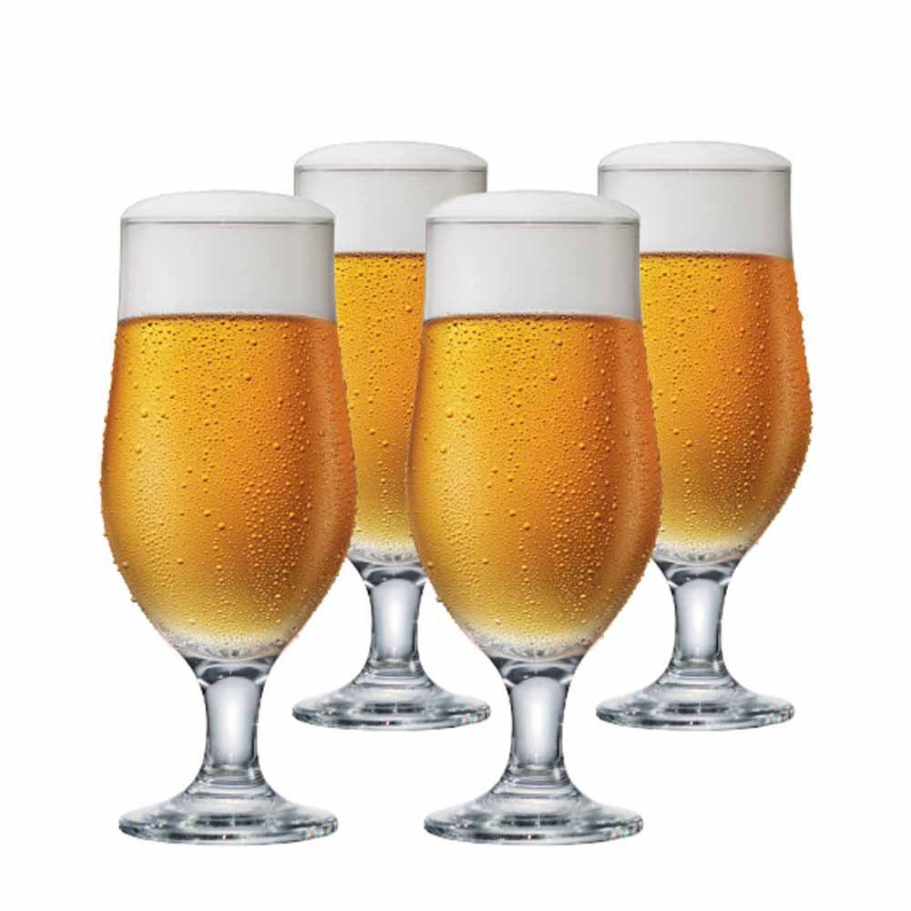Jogo de Taças de Cerveja Royal Beer Vidro 330ml 4 Pcs
