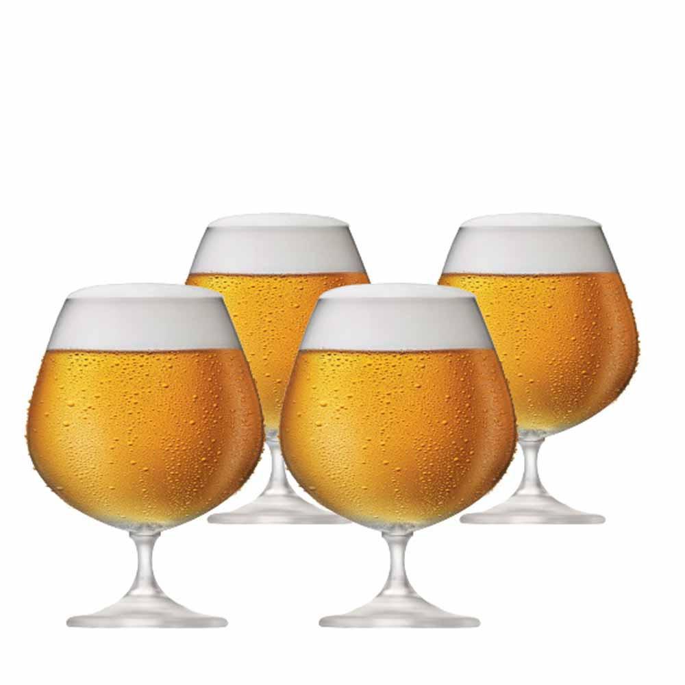 Jogo de Taças de Cerveja Snifter Cristal 760ml 4 Pcs