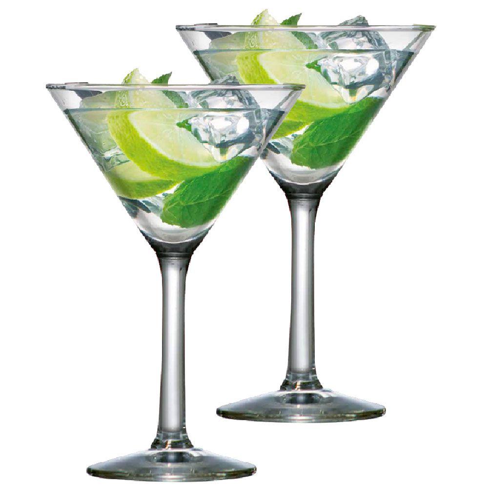 Jogo de Taças de Martini Vidro 225ml 2 Pcs