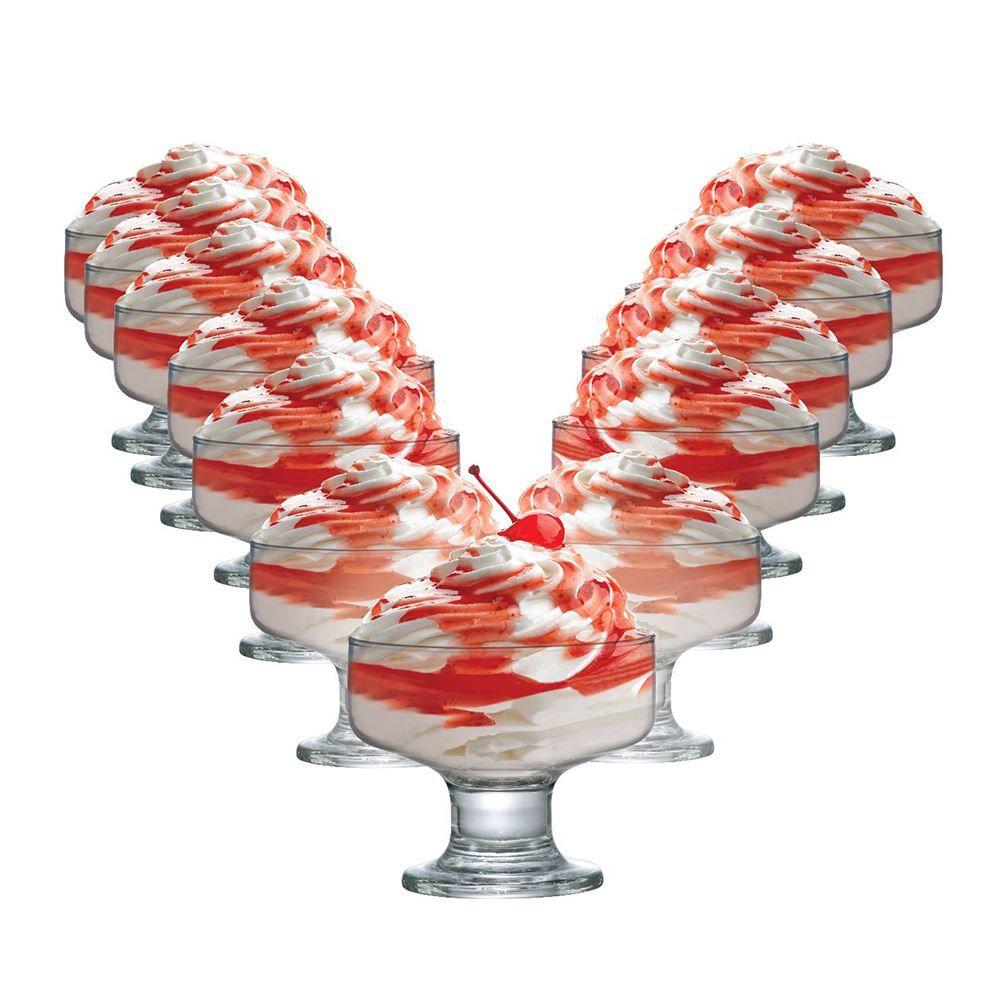 Jogo de Taças de Vidro para Sobremesa Curaçao 260ml 12 Pcs