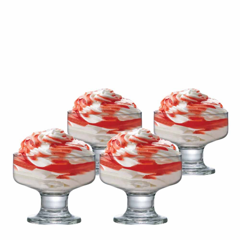 Jogo de Taças de Vidro Sobremesa Curaçao Vidro 260ml 4 Pcs