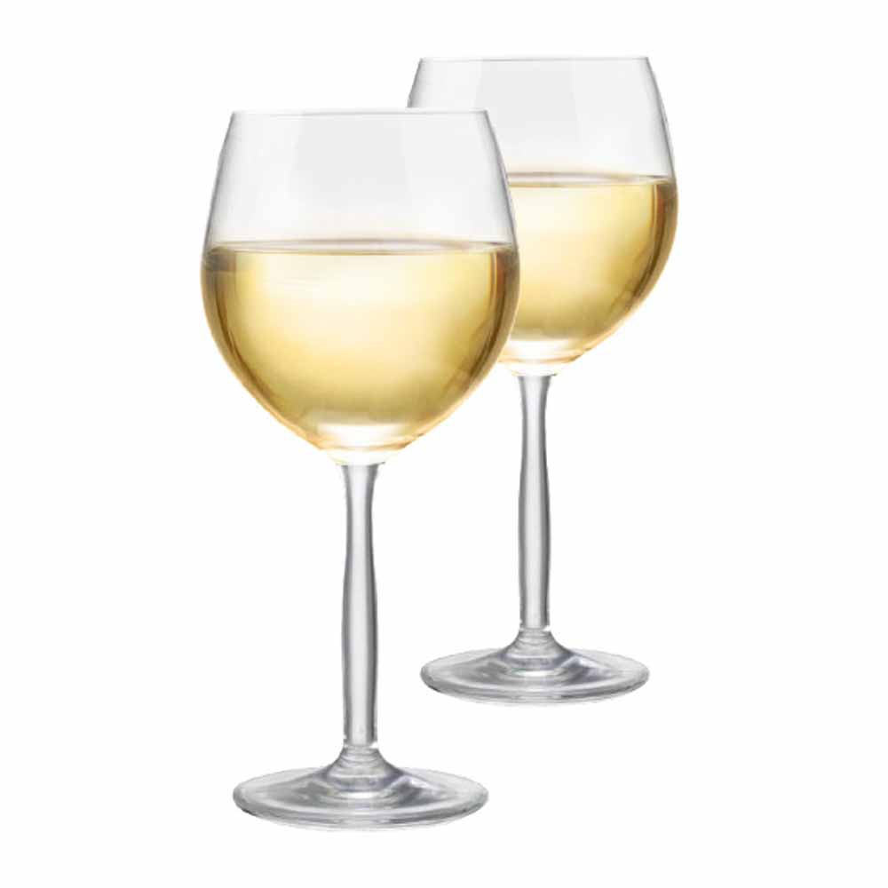Jogo de Taças de Vinho Branco Bordeaux Branco Cristal 380ml 2 Pcs