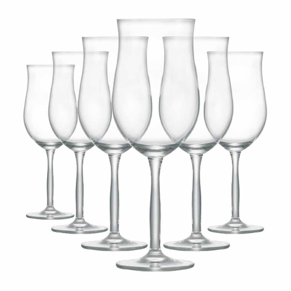 Jogo de Taças de Vinho Rose Bordeaux Rose Cristal 430ml 6 Pcs