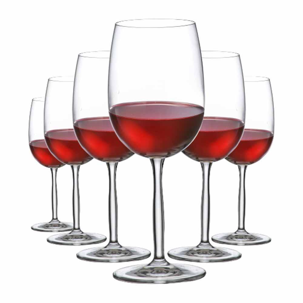 Jogo de Taças de Vinho Tinto Ritz Cristal 485ml 6 Pcs