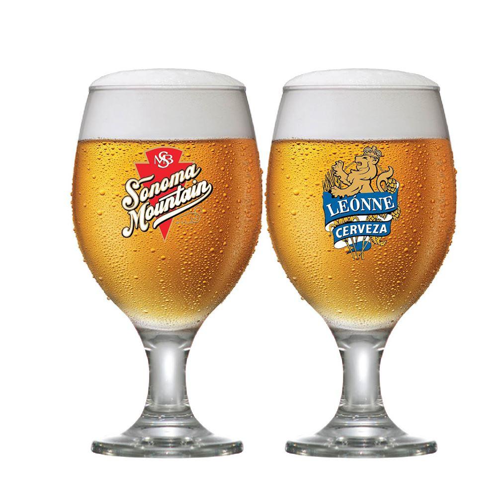 Jogo de Taças para Cerveja Frases Rótulo Roma 400ml 2 Pcs