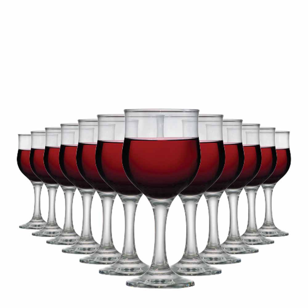 Jogo de Taças Vinho Barcelona Vidro 240ml 12 Pcs