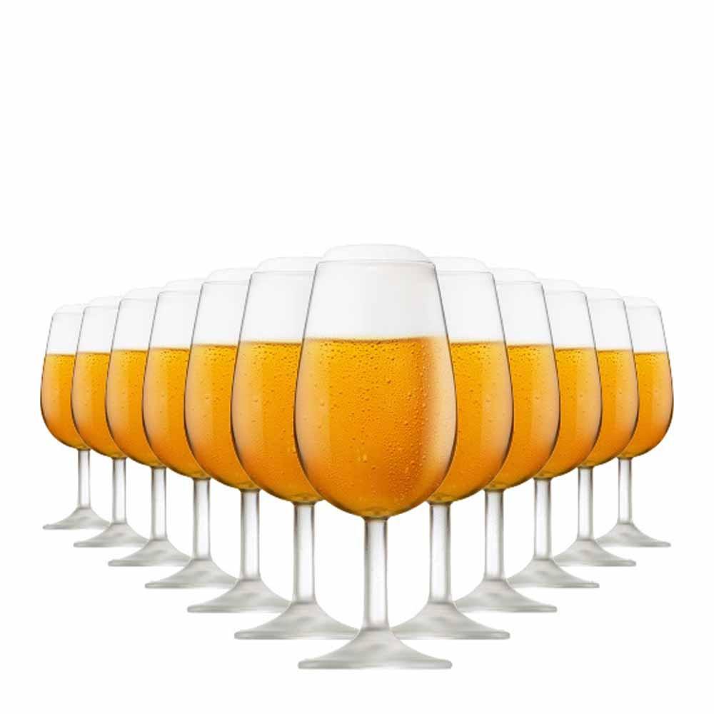 Jogo de Taças Vinho Bourbon Degustação Vidro 210ml 12 Pcs