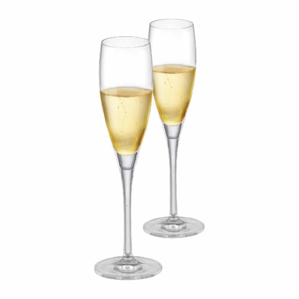 Jogo de Taças Vinho Prosecco Cristal 135ml 2 Pcs