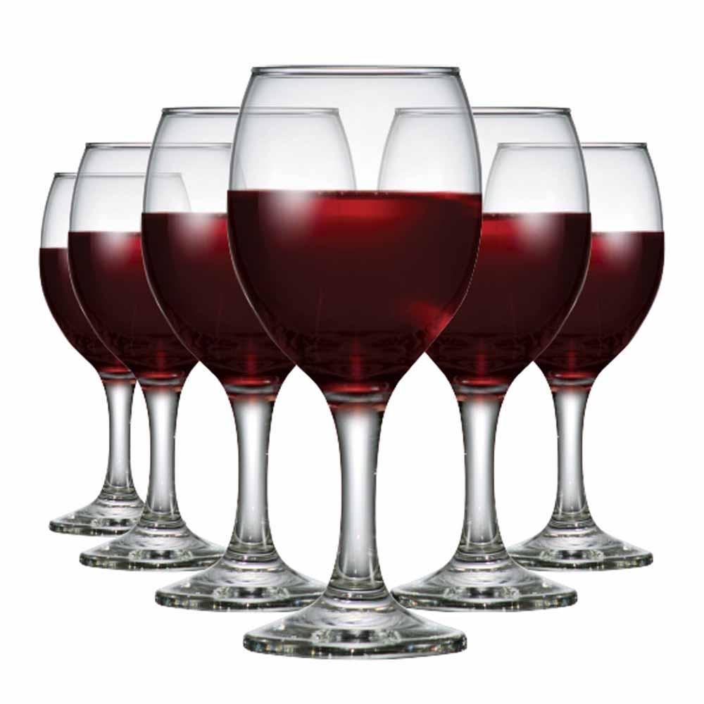 Jogo de Taças Vinho Tinto Roma Vidro 250ml 6 Pcs