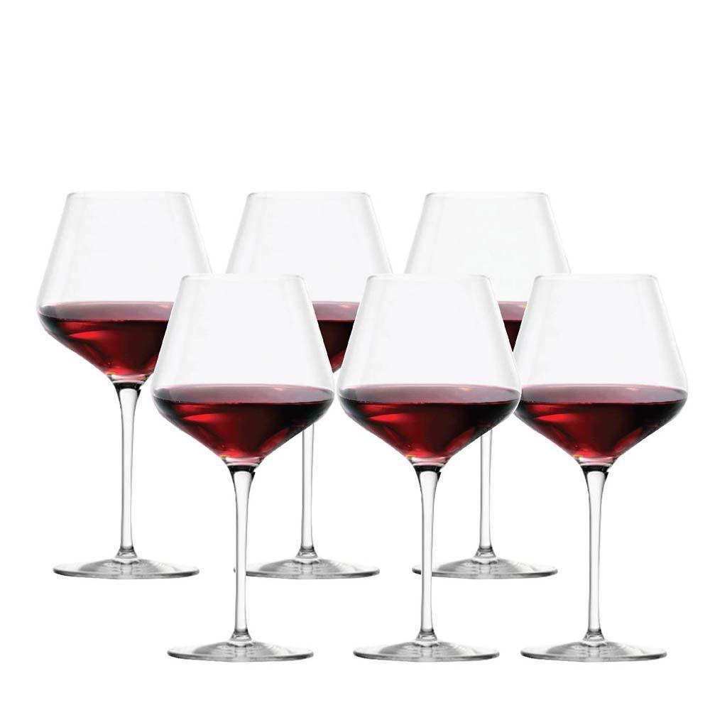Jogo Taças Vinho Branco Passion Burgundy Cristal 640ml 6 Pcs