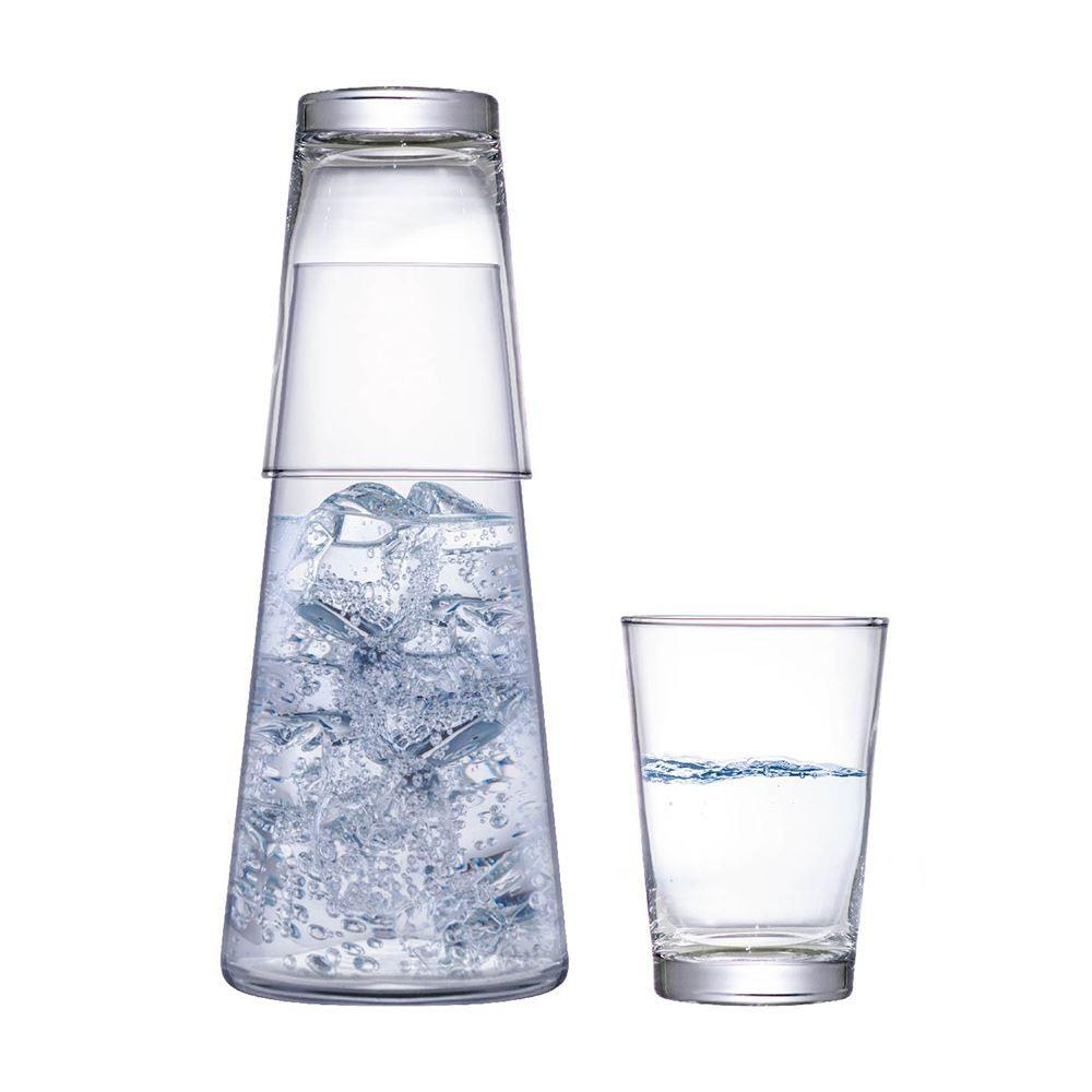 Moringa de Água de Vidro com Copo Moringa 2 Pcs Ruvolo