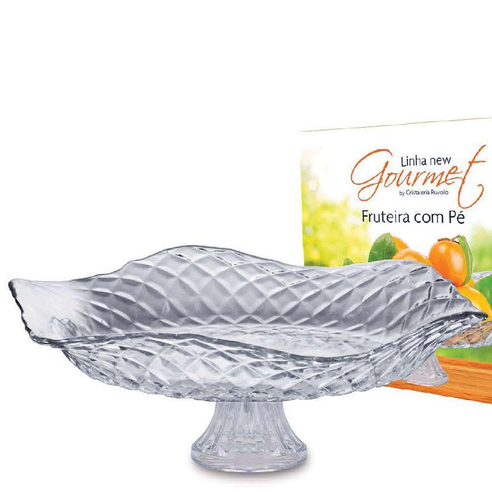 Saladeira com Pé de Vidro Gourmet Ruvolo