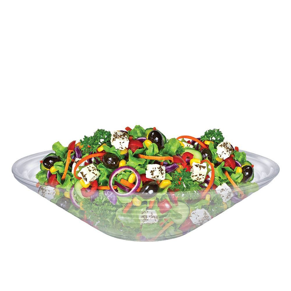 Saladeira - Fruteira de Vidro Redonda Gourmet Reta Ruvolo