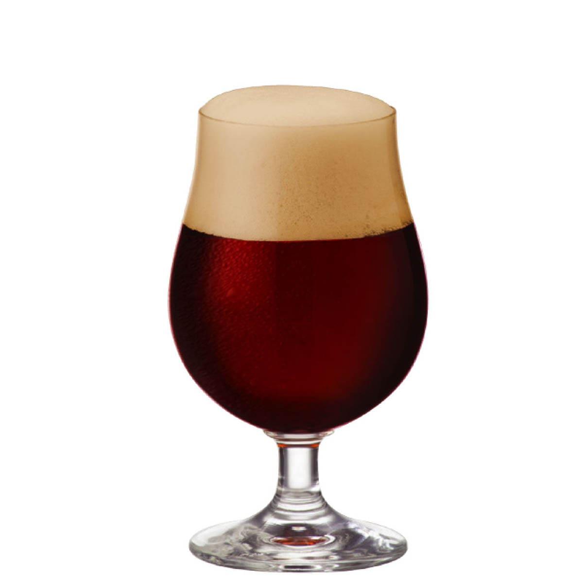 Taça Bock de Cerveja Vidro  380ml (Caixa com 12 unidades)