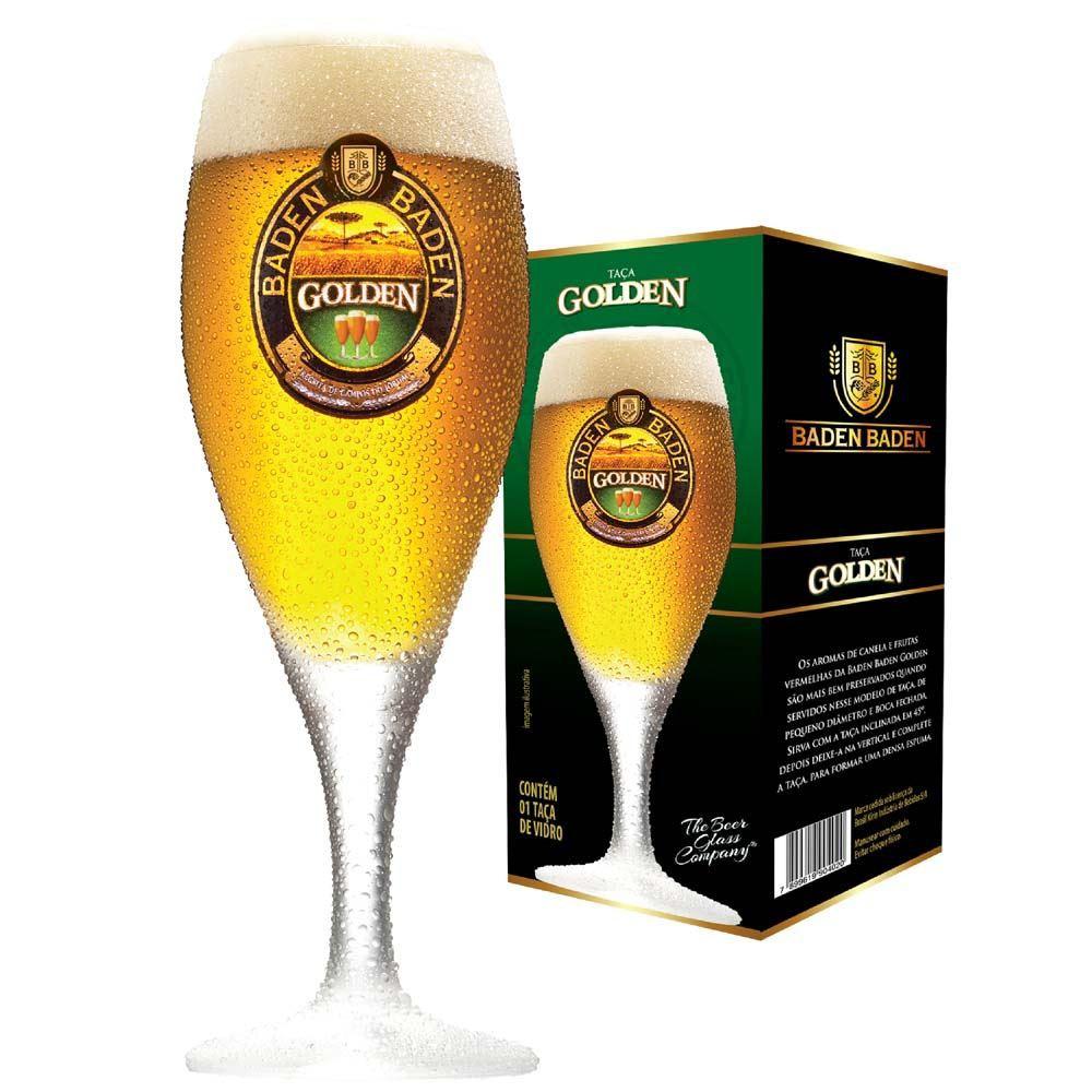 Taça de Cerveja Baden Baden Golden Cristal 320ml