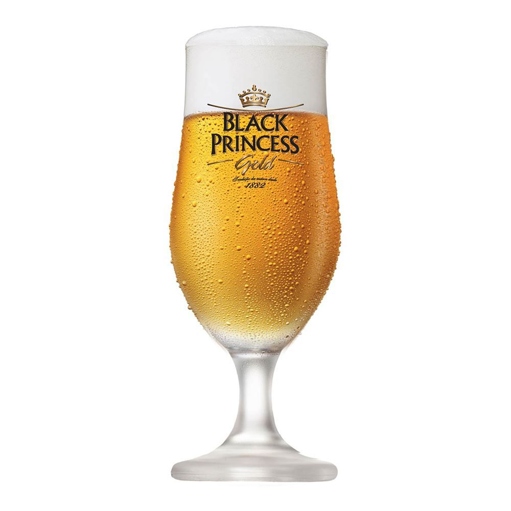 Taça de Cerveja Cristal Black Princess Nevada 370ml