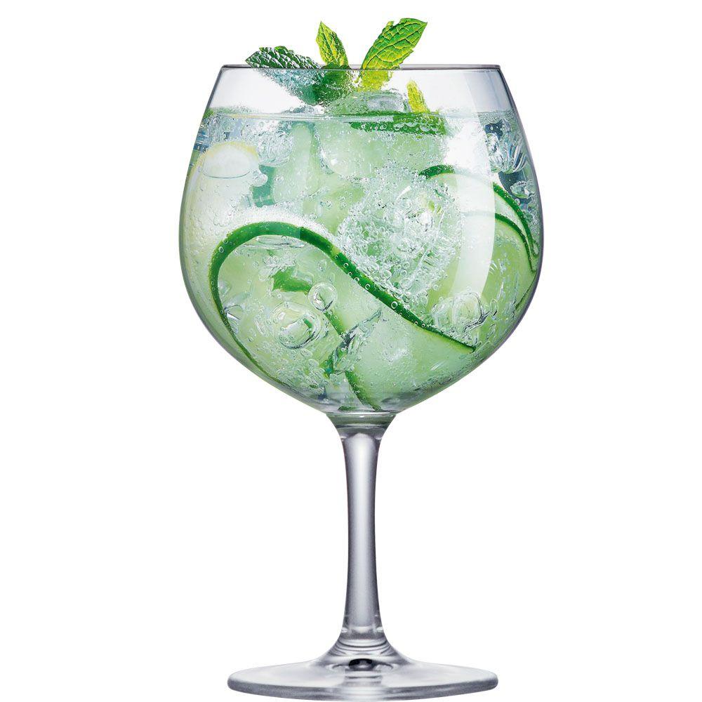 Taça de Vidro Cristal Gin Club 660ml (Caixa com 12 Unidades)