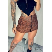 SHORT SAIA ZÍPER ANIMAL PRINT