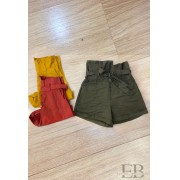 SHORT CLOCHARD JADE COM CINTO